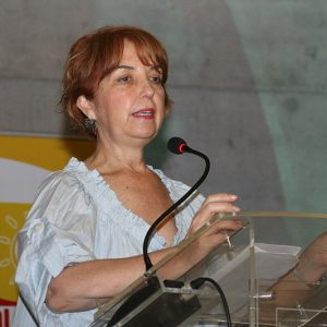 Chile's minister of transport and telecommunications Gloria Hutt